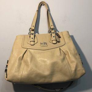 COACH Madison 🧁Creme Satchel Purse Bag